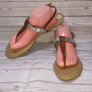 MAURICES Flat Strappy Thong Sandals NWT!